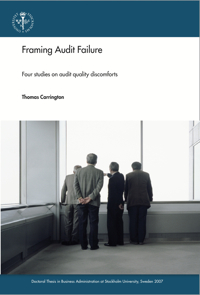Framing Audit Failure